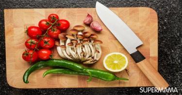 طبخ صحي - استخدام لوح تقطيع واحد للخضروات واللحوم