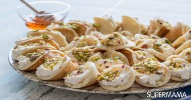 7 حلويات رمضانية 4 قطايف بالكريمة والفستق