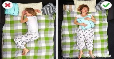 طريقة النوم الصحيحة - طريقة خاطئة في النوم