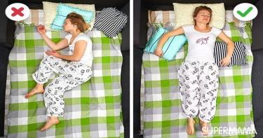 طريقة النوم الصحيحة - علاج آلام الظهر