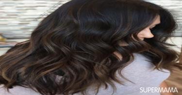 ألوان شعر تجعله غزيرًا - الشعر الملون بدرجة الشيكولاتة الداكنة