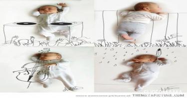 أفكار لتصوير المولود 6