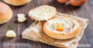 ساندوتش البيض في الفرن