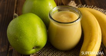 مهروس الموز والتفاح مع السيريلاك للرضع